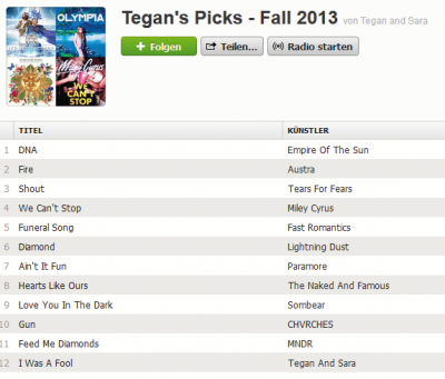 Tegan´s Picks