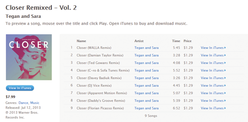 iTunes Closer Remix Vol.2